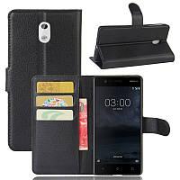 Чехол-книжка Litchie Wallet для Nokia 3 Черный