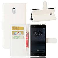Чехол-книжка Litchie Wallet для Nokia 3 Белый