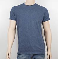 Мужская однотонная футболка 100% х/б 19002 джинс, фото 1