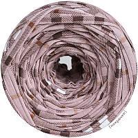 Пряжа трикотажная Belka, цвет Клетка белая (100-110 м), 7-9 мм
