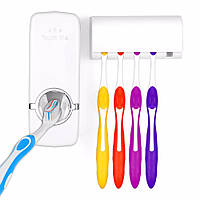 Дозатор для зубной пасты Toothpaste Dispenser, органайзер для зубных щеток