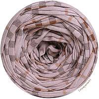 Пряжа трикотажная Belka, цвет Клетка (100-110 м), 7-9 мм