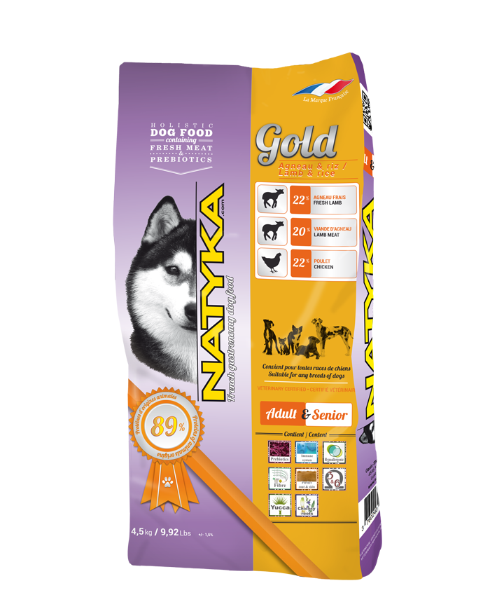 Natyka Gold Lamb & Rice (Натика Голд Лэмб енд Райс) - гипоаллергенный корм с ягненком и рисом для собак 4,5 кг