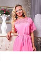 Воздушная туника- платье  Афина розовый, фото 1