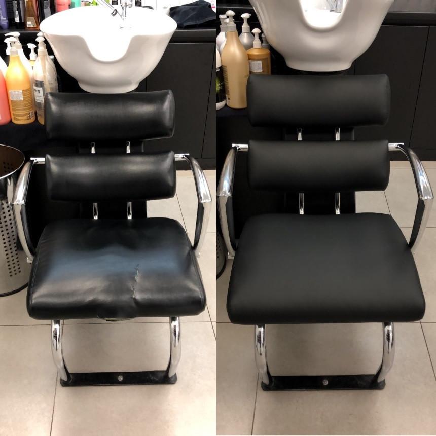 Срочная перетяжка парикмахерского кресла-мойки