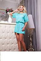 Воздушная туника- платье Афина ментоловый, фото 1