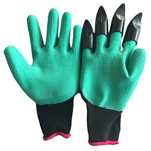 Садові рукавички c кігтями Garden Genie Gloves | Джені Гловес