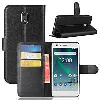 Чехол-книжка Litchie Wallet для Nokia 2 Черный