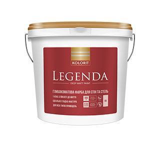 Глубокоматовая краска для стен и потолка  Legenda Kolorit 2,7л