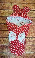 Конверт  с капюшоном  78х78 см весна-лето-осень  для девочек, фото 1