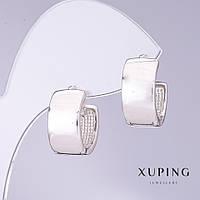 Серьги Xuping d-8мм L-6мм родий