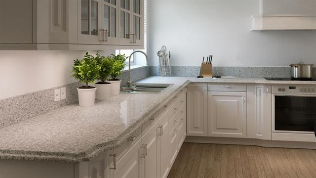 Кухонная Cтолешница искусственный камень Caesarstone 6270 Atlantic Salt - Photo