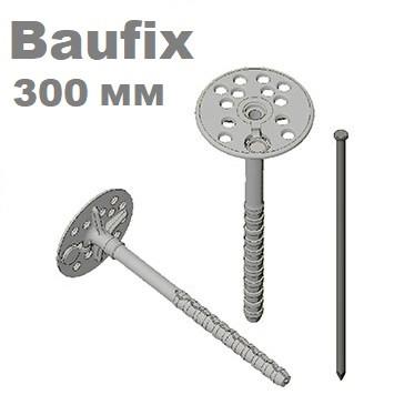 Дюбель 12х300 для крепления теплоизоляции с металлическим гвоздем с термозаглушкой Baufix