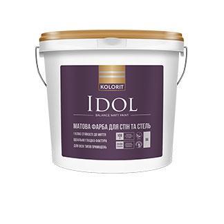 Матовая краска для стен и потолка  Idol Kolorit 2,7л