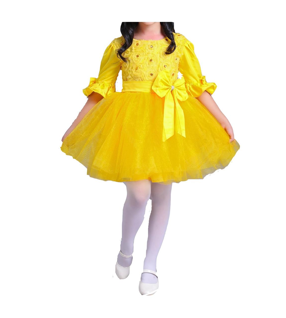 cb60f16c538 Детское нарядное платье желтое на 6 лет - Интернет магазин