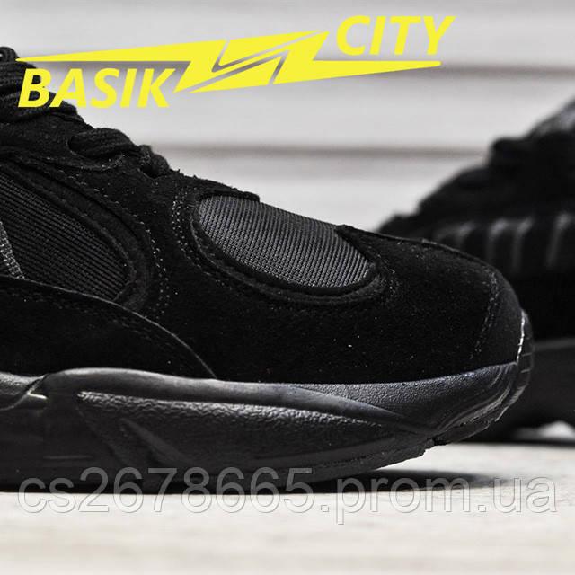 Мужские кроссовки Adidas Yung Triple Black New фото описания 5