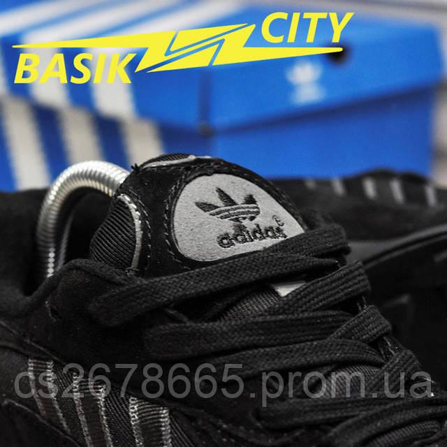 Мужские кроссовки Adidas Yung Triple Black New фото описания 9