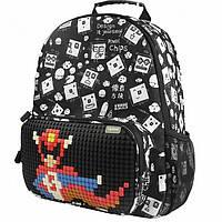 1444d672989a Рюкзак (ранец) школьный Upixel Floating Puff-Черный Пиксели WY-A025U 29*