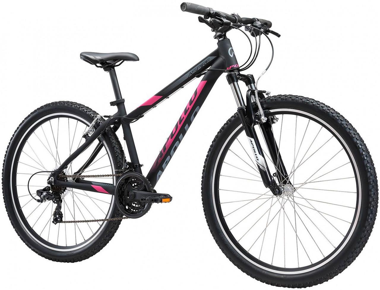 """Велосипед 27,5"""" Apollo ASPIRE 10 WS рама - S matte Black / Pink / Slate"""