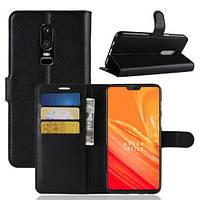 Чехол-книжка Litchie Wallet для OnePlus 6 Черный