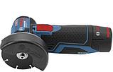 Аккумуляторная угловая шлифмашина Bosch GWS 12V-76 Professional, фото 2