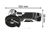 Аккумуляторная угловая шлифмашина Bosch GWS 12V-76 Professional, фото 3