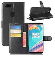 Чехол-книжка Litchie Wallet для OnePlus 5T Черный