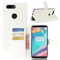 Чехол-книжка Litchie Wallet для OnePlus 5T Белый