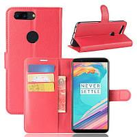 Чехол-книжка Litchie Wallet для OnePlus 5T Красный