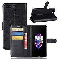 Чехол-книжка Litchie Wallet для OnePlus 5 Черный