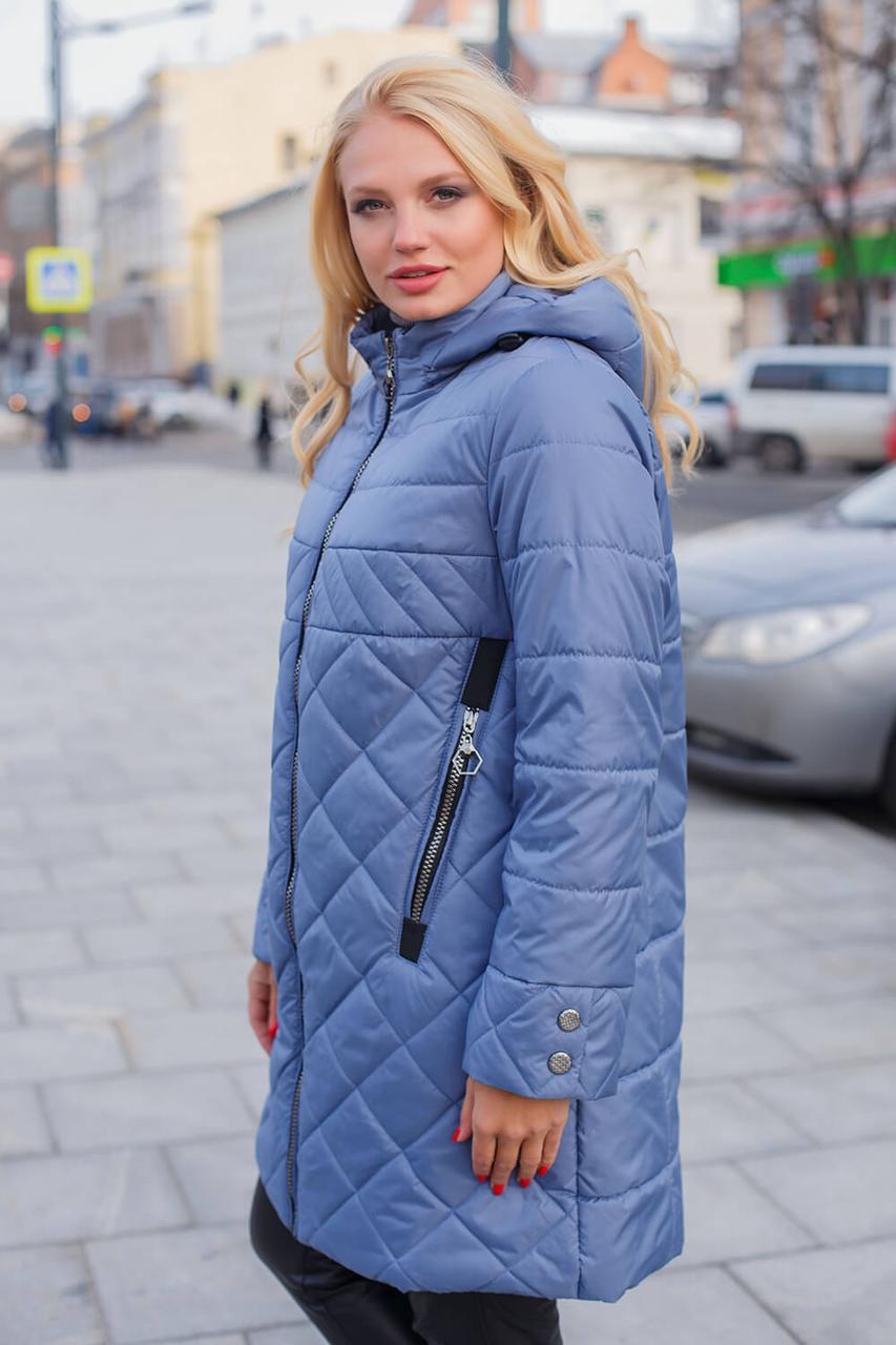 Куртка женская удлиненная на весну с 50 по 58 размер