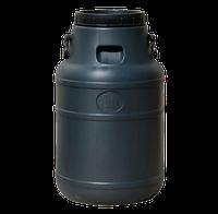 Бочка (бидон) для технических жидкостей 50 л черная, ф-24см, 360х580