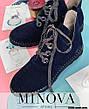 Ботинки женские демисезонные, натуральная  замша, размер:36-42, фото 4