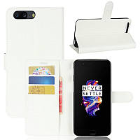 Чехол-книжка Litchie Wallet для OnePlus 5 Белый