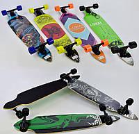 Лонгборд Lukai для подростков и взрослых, дека 104 см, колёса PU 7 см, подшипники ABEC-9, Скейтборд, скейт