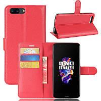 Чехол-книжка Litchie Wallet для OnePlus 5 Красный