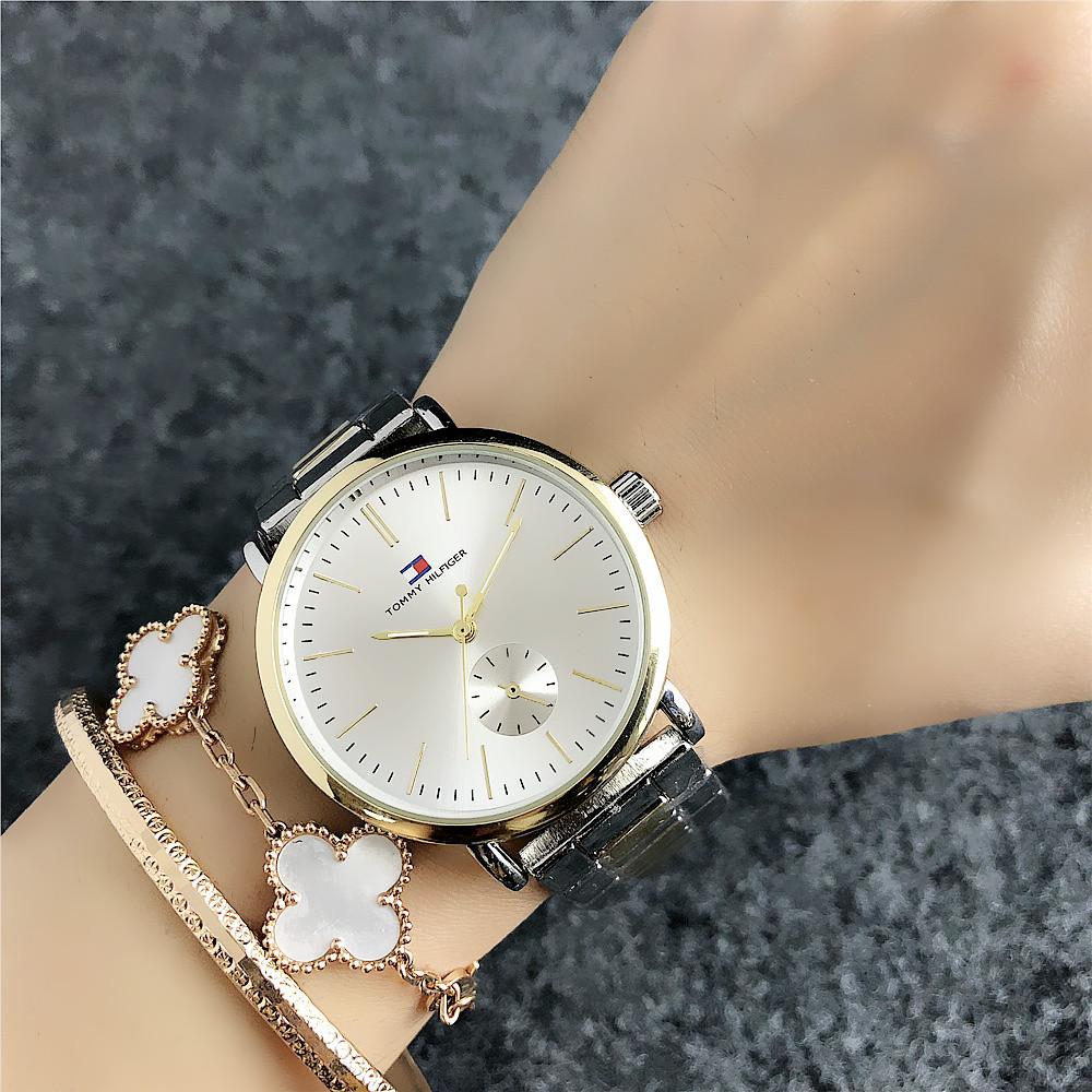 Наручные мужские часы Tommy Hilfiger 7220 Silver-Gold-Silver