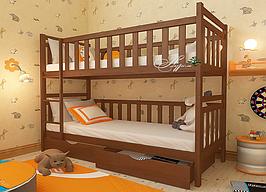 Кровать двухъярусная десткая подростковая AUREL Александр без ящиков (спальное место ШхГ - 700х1400)