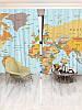 Фотошторы Walldeco Карта мира (36407_1_1)