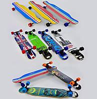 Лонгборд Lukai для подростков и взрослых, дека 109 см, колёса PU 7 см, подшипники ABEC-11, Скейтборд, скейт