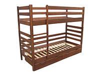 Кровать двухъярусная десткая подростковая Юта Засоня с 2 ящиками (спальное место ШхГ - 900х2000)