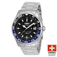 Мужские швейцарские часы Invicta 25821 GMT SWISS MADE Инвикта кварцевые водонепроницаемые часы