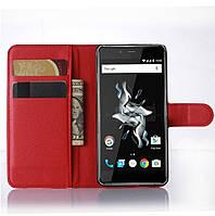 Чехол-книжка Litchie Wallet для OnePlus X Красный