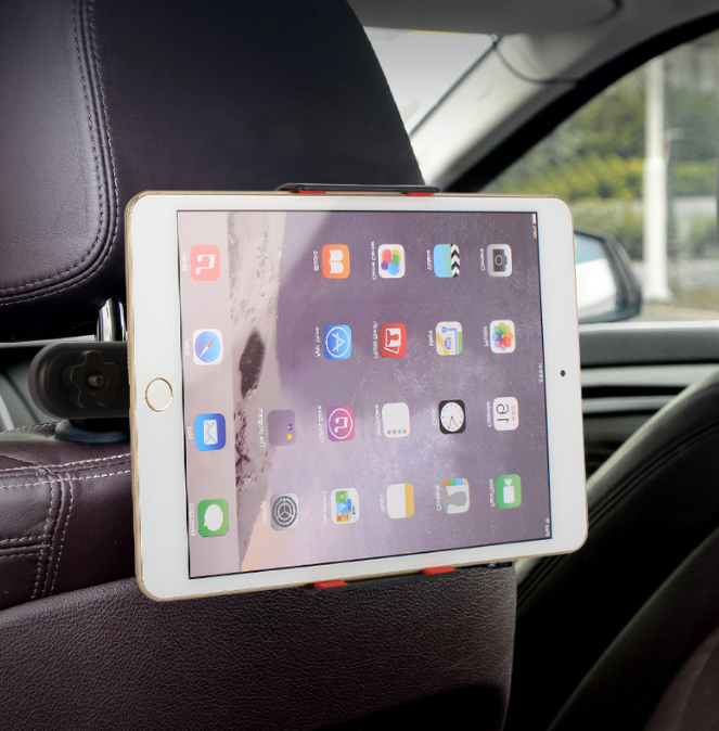 Автомобильное крепление для планшетов на спинку сидений Черный (04188)