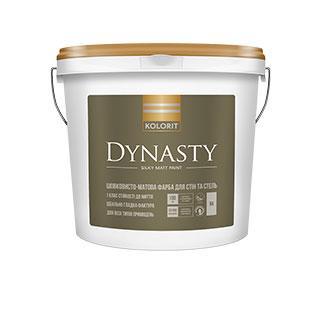 Шелковисто-матовая краска для стен и потолка  Dynasty Kolorit 9л