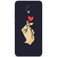 Силиконовый бампер чехол для Meizu M6 с рисунком Знак любви