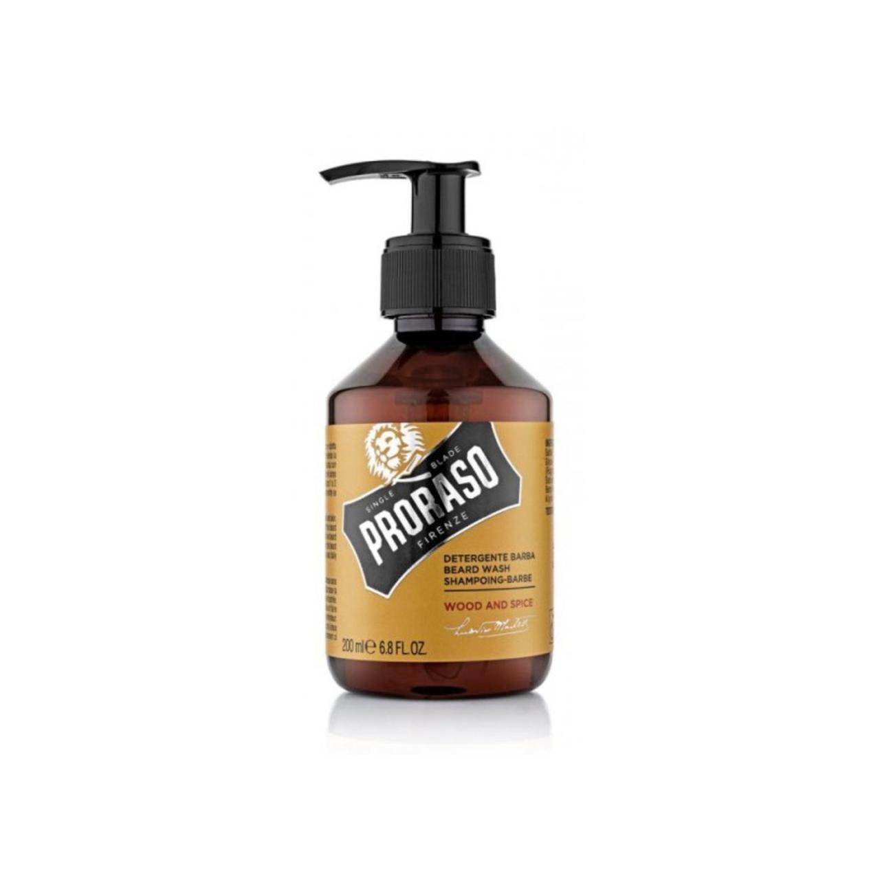 Шампунь для бороды Proraso Beard Shampoo Wood & Spice 200 мл