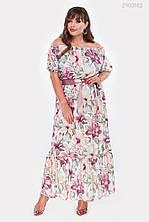Летнее платье Мальва (сиреневый) (2 цвета) с 50 по 56 размер  (рин)