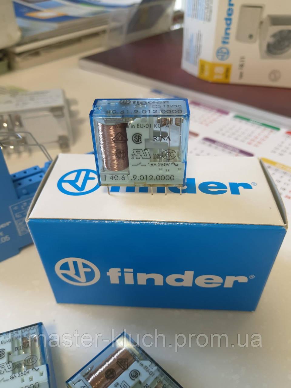 Реле промежуточное 16A 12V DC Finder 40.61.9.012.0000 миниатюрное