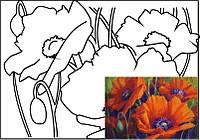 Холст на картоне с контуром, Натюрморт № 9, 30x40, хл., акрил.гр., Этюд